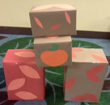 Color boxes for different size blocks