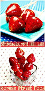 Korean hard strawberry candy