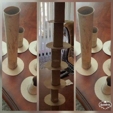Building using Paper towels and toilet paper rolls