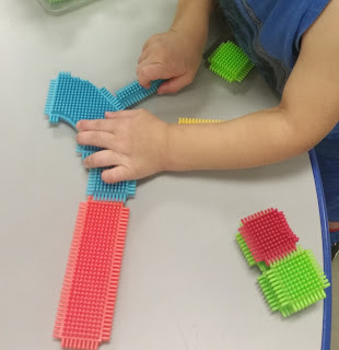 Hard at work- bristle blocks